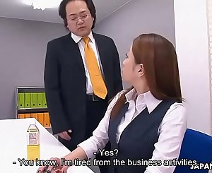 Obedient Japanese secretary works hard for a mouthhole of cum