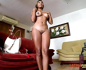 Desperate Latina deep throats and anal creampie for $10