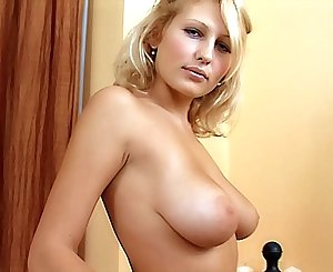 Shy Buxomy Light-haired Teen very first time porn audition. Sexy stripping & masturbation. Pussy fingering, large tits!