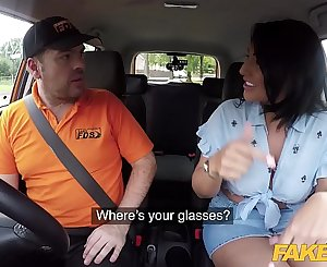 Fake Driving School Candi Kayne returns just for instructors big cock