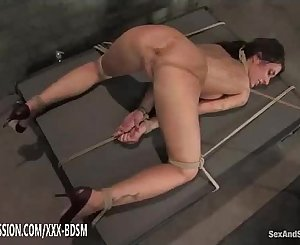 Pussy stimulation with device while fucking in the ass
