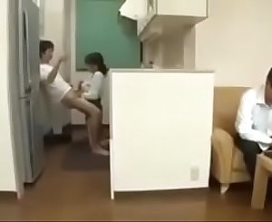 Cheating Japanese Mummy with her Son