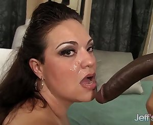 Horny Mexican plumper Angelina gonzo interracial sex